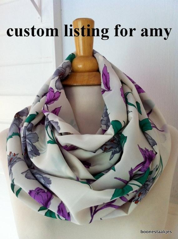 Custom listing for Amy  / summer loop scarf, infinity shawl