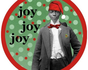 Christmas card |  African American | African American Christmas |  Vintage Style | Blank Card | Black Male