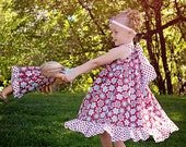 matching doll and me pillow case dresses , doll and me dress , 18 inch doll dress and matching girls pillow case dress