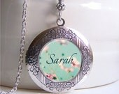 Personalized Locket Necklace, Name Necklace, Name Jewelry, Photo Locket