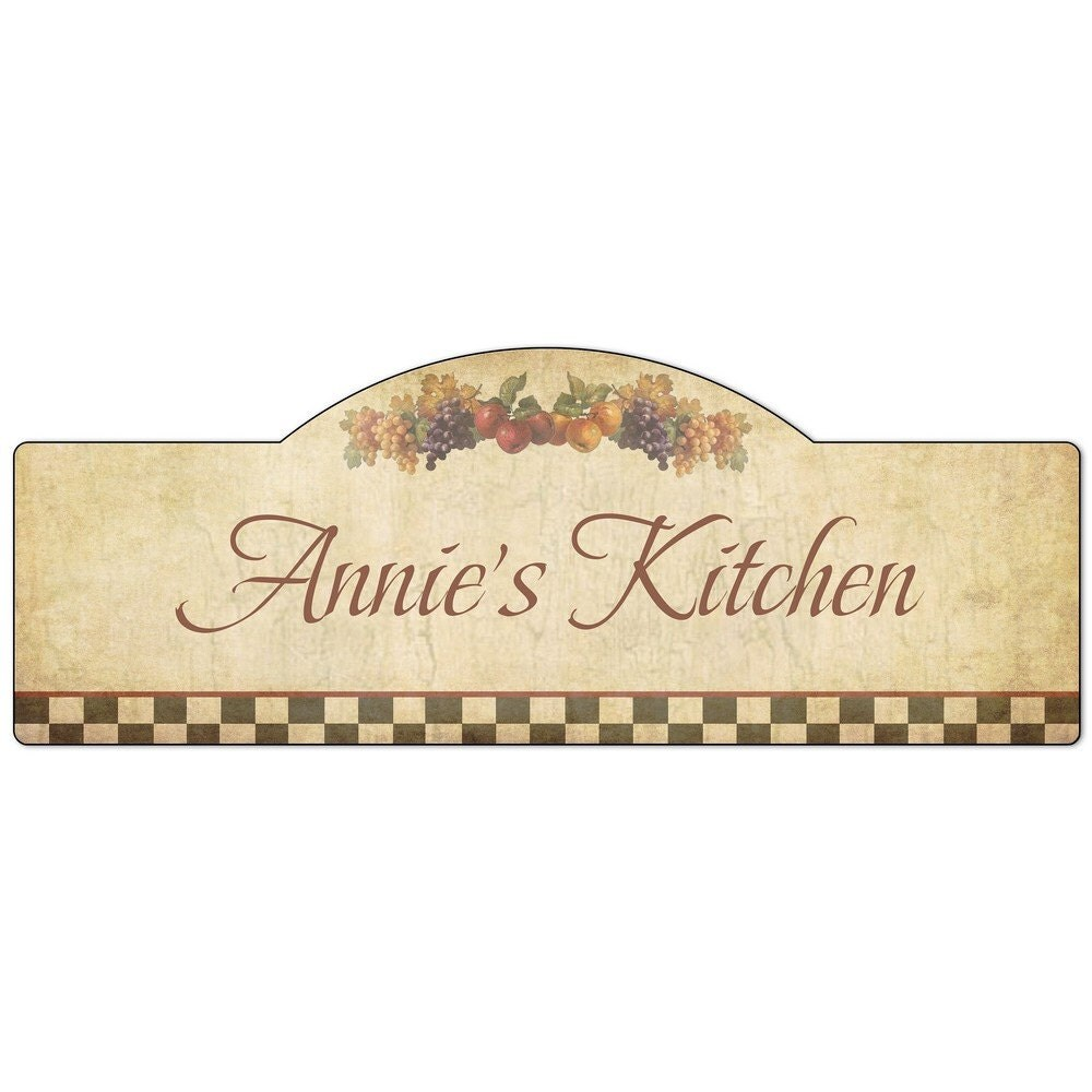 Personalised Kitchen Signs: Personalized Name Kitchen Sign