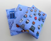 Whovian Baby Burp Cloths - LIMITED EDITION - Set of Three