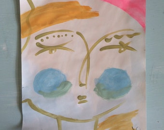 Pretty Girl Original | Abstract Face / People Art