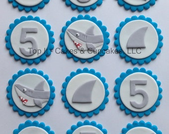 recipe: shark cupcake topper [33]
