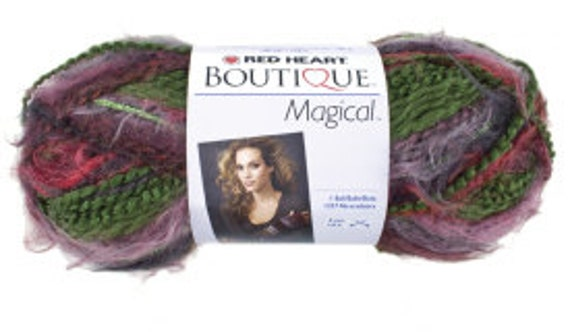 Red Heart Boutique Magical Wizard Yarn Purple GreenMetallic