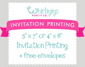 INVITATION PRINTING with Envelopes