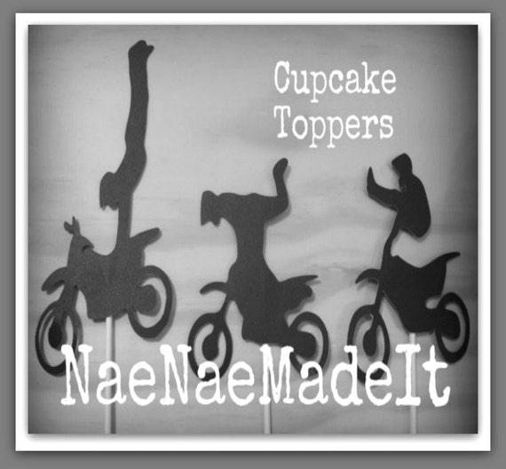 Dirt bike Birthday Cupcake Toppers