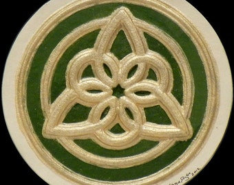 Celtic Triangle I - Cast Paper - Irish Art - Scottish - Celtic Knot Work - Triskelion - Scottish