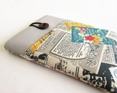 iPad Case, iPad Cover, iPad Sleeve, iPad Air Cover, iPad Air Case, Vintage Magazine print.