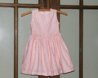 SALE Vintage Handmade Pink Floral Toddler Dress