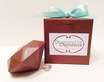 Gemstone Ring Chocolate Diamond - Anniversary Gift, Birthday Gift, Bridesmaid Gift, Girlfriend Gift