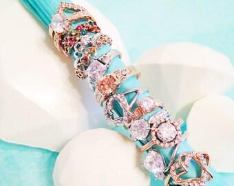 Chocolate Diamond with Gemstone Rng - Gemstone Ring and Diamond-Shaped Chocolate - Anniversary Gift-Birthday Gift-Bridesmaid Gift-Push Gift,