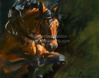 Equestrian Drama Oil Painting