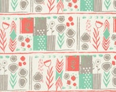 SALE - AUGUST by Sarah Watts for Cotton + Steel - Mezzanine (Coral, 2000-001) - 1 Yard - Quilting Weight Cotton Fabric