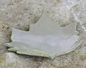 Olive Green Sycamore Ceramic Spoon Rest, Candleholder, or Small Tray - Made from a Real Leaf