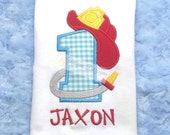 Applique Fireman, Firefighter Birthday T-Shirt or Bodysuit Personalized