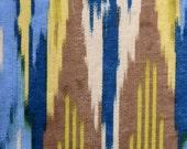 Peacock Blue Velvet Upholstery Fabric - Abstract Custom Velvet Pillow Cover - Ocean Blue Yellow Furniture Fabric - Bright Blue Headboard