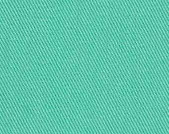 Solid Turquoise Upholstery Fabric - Cotton Twill Fabric for Furniture - Custom Turquoise Curtains - Solid Turquoise Pillows with Cording