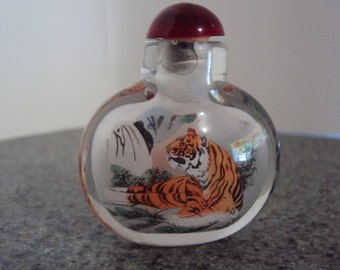 Beautiful Chinese Inside Hand Painted Glass Snuff Bottle