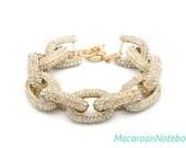 Pave Bracelet - Chunky Gold  - Ready to Ship