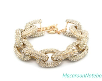 Pave Bracelet - Chunky Gold  - Ready to Ship
