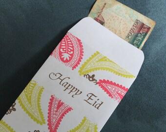 Eidee Money Envelopes for Eid's Eidiya/Eidee and treasures,Set of 5