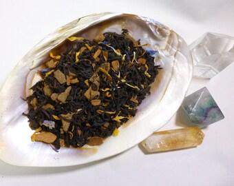 Tea Sample - Girl with the Lion's Tail -  Black loose leaf tea - Hazelnut Cinnamon