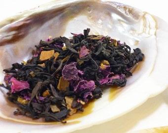 1 oz 'Glashtyn' Black Tea - rose oolong and cinnamon loose leaf tea