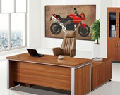 Triumph Motorcycle collage, Art Print 12x7.50in to 60x41in, Motorcycle Art print, big size print, large wall print, office decor
