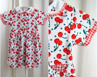 Vintage Girl's Dress | Cherry Pickin' All Day Long | Size 10