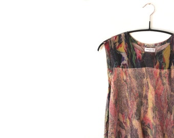 RESERVED Dries Van Noten Psychedellic Marbleized Top / Tie Dye / Marble