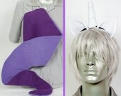 Rarity Adjustable Ears and/or Tail - buy as a set or separate! Costume sized for Kids or Adults