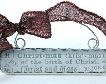 Handmade Lead and Glass Christmas Ornament