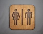 Wooden Sign for Bathroom