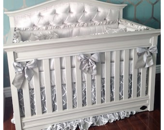 THE DIAMON COLLECTION: 2 Tone Silk Crib Bedding