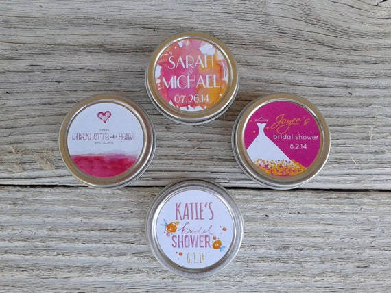 24 Custom Hen Party Lip Balm Favor, Personalized Bridal Shower Favor, Wedding Favor