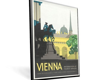 Vienna Vintage Travel Poster 8x12 on Popmount Ready to Hang FREE SHIPPING