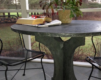 "Concrete ""Slate Look"" Bistro Table"