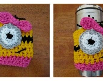One eyed girl minion Travel mug cozy