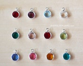 Add On Birthstone - Pick Your Birth Month Charm - Silverplate