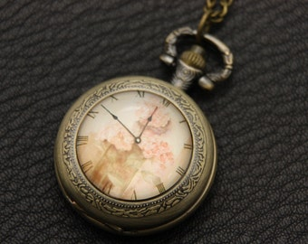 Necklace pocket watch horloge vintage