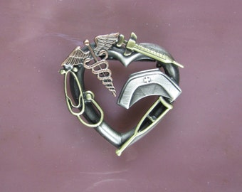 Nurses Tools of the Trade Brooch- Nurse Jewelry- Nurse Gift- Pinning Ceremony