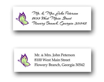 Butterfly Mailing Address Labels (4 sheets of 30)
