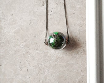 Peahen Necklace by Heron and Lamb