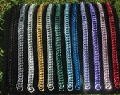 Anodized aluminum Half-Persian 4-1 chainmaille bracelet, various colors
