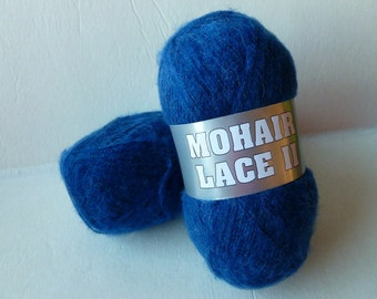 Yarn Sale Royal Blue 9-2 Mohair Lace II by Filati Europa