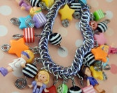 Polly Pocket Limited Edition (1 of 2) Blackmaille Chainmaille Charm Bracelet - Lavender & Silver