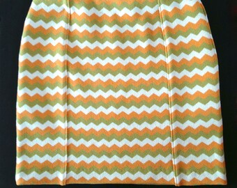 Zig Zag Knit Pencil Skirt