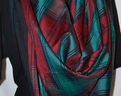 Silk Scarf in the Lindsay Tartan, 36 inches square