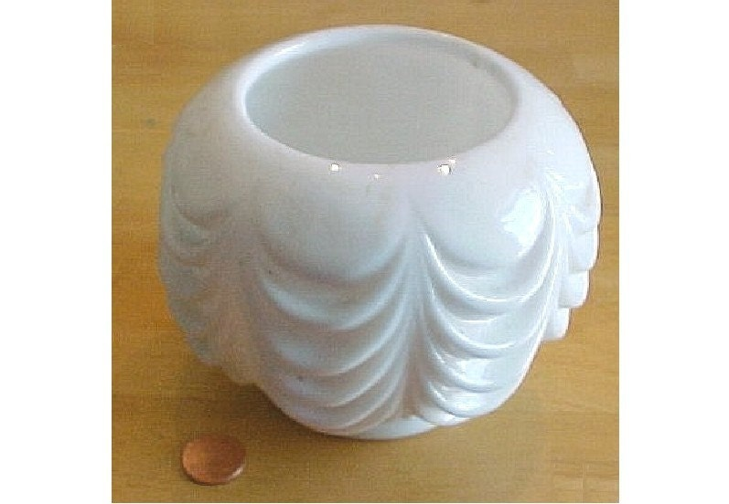 Vintage Fostoria Milk Glass Heavy Drape Rose By Irrenaystreasures